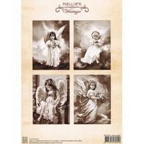 Decoupage A4 ark, små engle