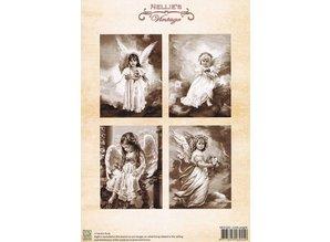 Nellie snellen A4 foglio di Decoupage, Angioletti
