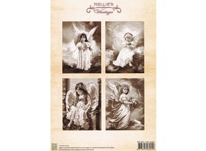 Nellie snellen Decoupage sheet A4, Little angels