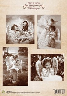 Nellie snellen Decoupage sheet A4, Angel Praying