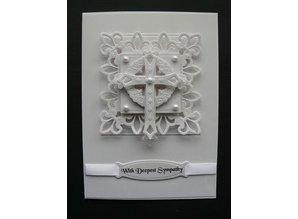 Spellbinders und Rayher Spellbinders, punching and embossing template Shapeabilities, crosses