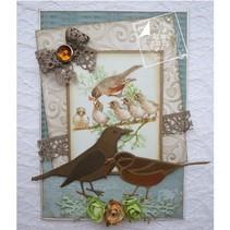 Cutting en embossing stencils, Liefde van de lente, vogels
