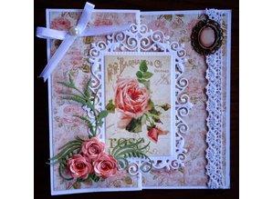 Joy!Crafts und JM Creation BASTEL TIP: punzonado - esquinas y cliché de estampado, marco superior y 3