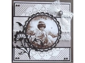 Marianne Design Prægning og Schneideshablone, dekorativ ramme