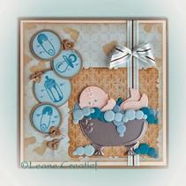 Punzonado - y la plantilla de estampado: Temas del bebé