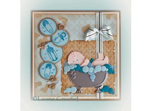Leane Creatief - Lea'bilities Punzonado - y la plantilla de estampado: Temas del bebé