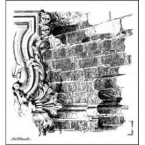Lablanche Stempel: bakstenen muur achtergrond