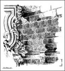 LaBlanche Lablanche Stempel mur baggrund