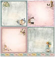 "Designer Papier Scrapbooking: 30,5 x 30,5 cm Papier Design papir ""Barn 1"""
