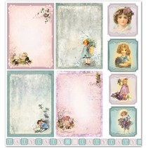 "Designpapier ""Kinder / Baby 5"" nostalgie Pur!"
