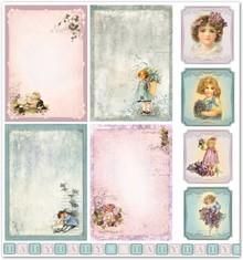 "Designer Papier Scrapbooking: 30,5 x 30,5 cm Papier Design papir ""Børne / baby 5"" nostalgi Pur!"