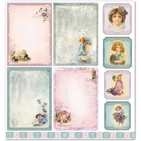 """Designer Papier Scrapbooking: 30,5 x 30,5 cm Papier Papel de diseño """"Niño / Bebé 5"""" Pur nostalgia!"""