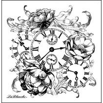 LaBlanche Stempel: romantische Uhr