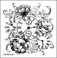 LaBlanche LaBlanche Stempel: romantische Uhr