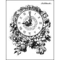 Lablanche Stempel: Romantisch Klok met bloemen