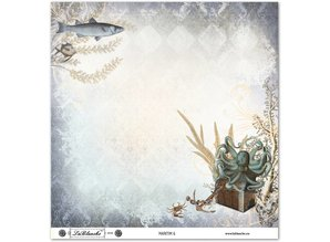 "Designer Papier Scrapbooking: 30,5 x 30,5 cm Papier Design papir ""Maritime"""