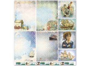 "Designer Papier Scrapbooking: 30,5 x 30,5 cm Papier Design paper ""Maritime"""