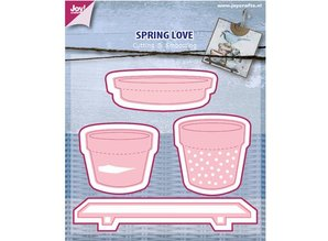 Joy!Crafts und JM Creation Joy Crafts, punching and pre-template, Spring Love