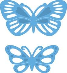 Marianne Design Taglio e goffratura stencil, LR0357, Creatables, farfalle di piccole