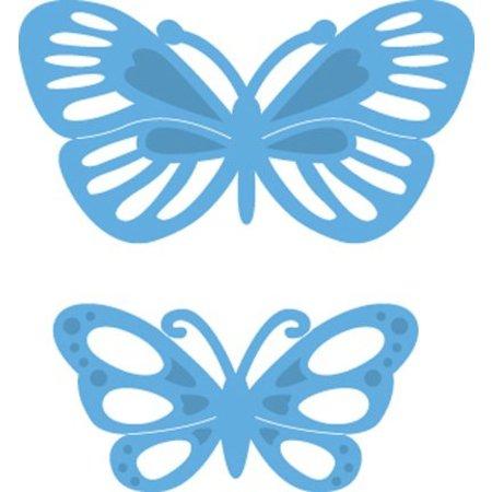 Marianne Design Stanz- und Prägeschablonen, LR0357, Creatables, Tiny's butterflies