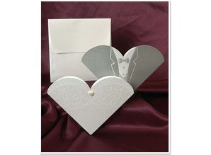 BASTELSETS / CRAFT KITS: Exclusive Wedding Cards Bride and groom