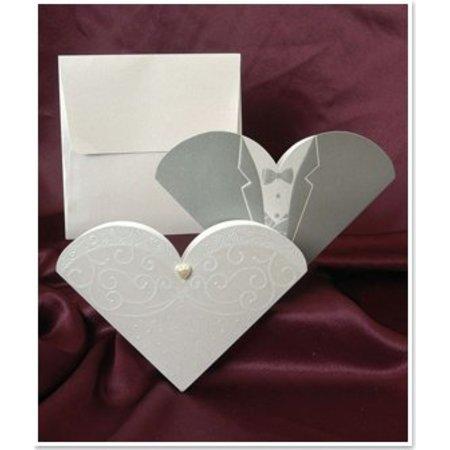 BASTELSETS / CRAFT KITS: Eksklusiv bryllup kort Brud og brudgom