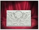 BASTELSETS / CRAFT KITS: 3 Eksklusiv Rose kortet hvide kuverter +