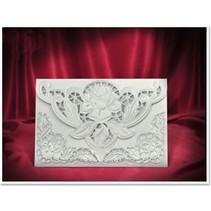 3 Exclusieve Rose card witte enveloppen +