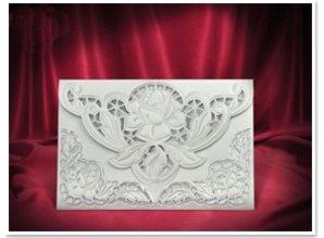 BASTELSETS / CRAFT KITS: 3 Eksklusiv Rose kortet hvide kuverter +