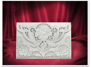 BASTELSETS / CRAFT KITS: 3 Tarjeta exclusiva Rose sobres blancos +
