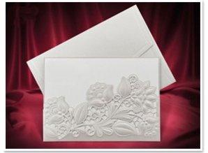 KARTEN und Zubehör / Cards Eksklusive Einsteckkarten blomster hvid