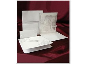 BASTELSETS / CRAFT KITS: ExclusivePop-Up Wedding Cards backdrop