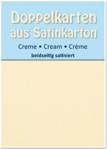 KARTEN und Zubehör / Cards Satin doppia scheda B6, entrambe le parti raso, 5 pezzi