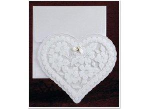 BASTELSETS / CRAFT KITS: Eksklusive Edele hjerte kort med folie og glitter