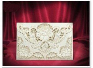 BASTELSETS / CRAFT KITS: Exclusive Edele envelope cream roses cards
