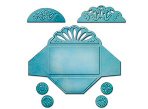 Spellbinders und Rayher Spellbinders, Stamping and Embossing Stencil, Shapeabilities for 3 different mini envelope