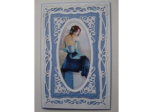 Spellbinders und Rayher Spellbinder, stamping and embossing stencil, Pretty decorative frame