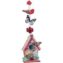 Gestantzte A4 3D-blad, vintage vogel huis