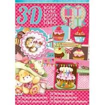 Libro fabricación de la tarjeta, tema: Cumpleaños