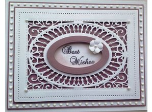Creative Expressions Creative Expressions, stamping and embossing stencil, decorative frame background