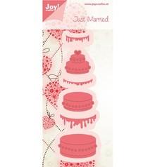 Joy!Crafts und JM Creation Gioia Crafts, stampaggio - e goffratura stencil, torta