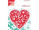 Joy!Crafts und JM Creation Gioia Crafts, punzonatura - e il modello goffratura, cuore pieno di farfalle