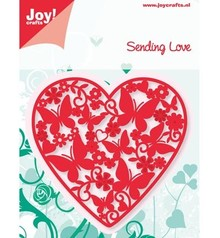 Joy!Crafts und JM Creation Joy Crafts, punching - and embossing template, heart full of butterflies