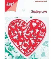 Joy!Crafts und JM Creation Joy Crafts, stansning - og prægning skabelon, hjertet fuld af sommerfugle