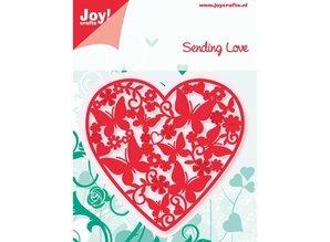 Joy!Crafts und JM Creation Joy Crafts, Stanz - und Prägeschablone, Herz voll mit Schmetterlinge