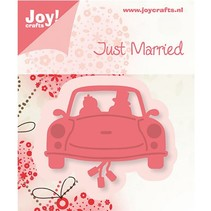 Joy Crafts, stamping - and embossing template, wedding car
