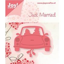 Joy Crafts, stempling - og prægning skabelon, bryllup bil