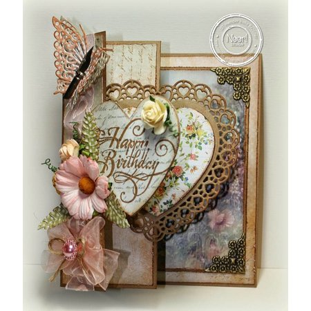 Joy!Crafts und JM Creation Joy Crafts, Stanz - und Prägeschablone, Filigränes Herz mit Schmetterling
