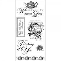 """Rubber stempel, """"Botanische Tea"""""""