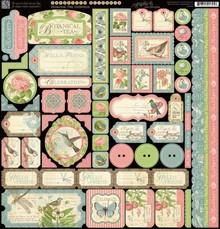 Graphic 45 Designerpapier, 30,5 x 30,5cm Stickerbogen